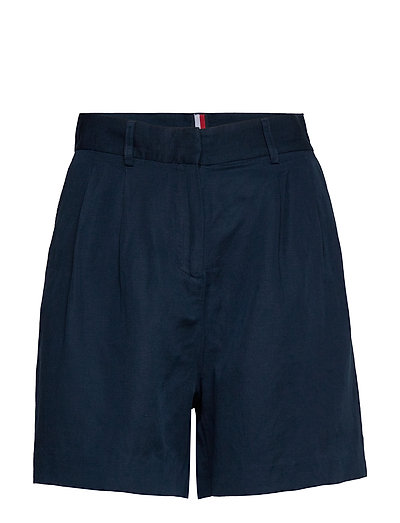 Linen Tencel Short Bermudashorts Shorts Blau TOMMY HILFIGER
