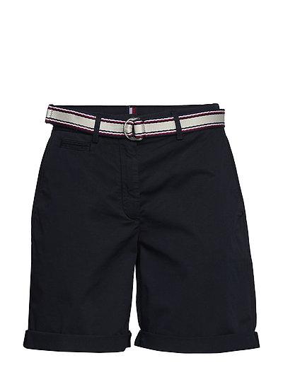 Gmd Cotton Tencel Slim Bermuda Bermudashorts Shorts Schwarz TOMMY HILFIGER