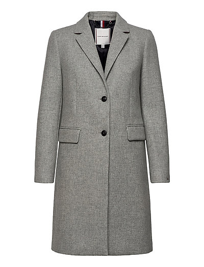 Th Ess Wool Blend Classic Coat Wollmantel Mantel Grau TOMMY HILFIGER | TOMMY HILFIGER SALE