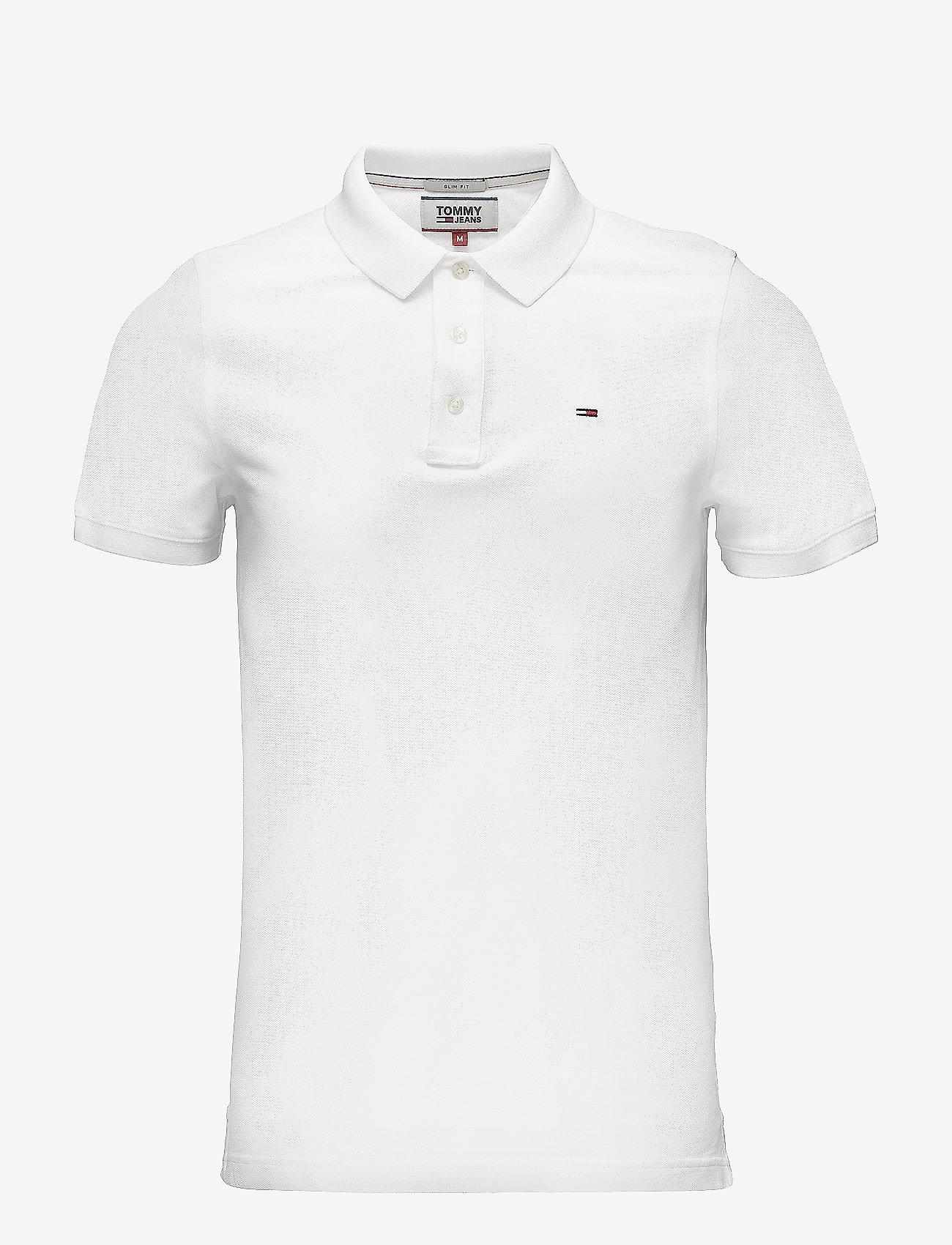 Tommy Jeans - TJM ORIGINAL FINE PI - kortermede - classic white - 0