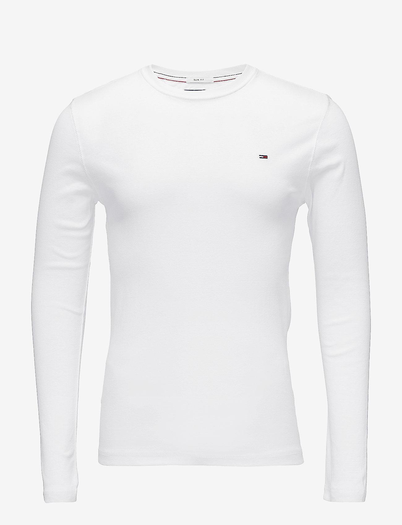 Tommy Jeans - TJM ORIGINAL RIB LONGSLEEVE TEE - basic t-shirts - classic white - 0