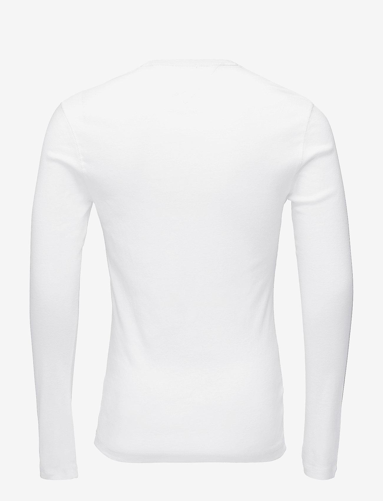 Tommy Jeans - TJM ORIGINAL RIB LONGSLEEVE TEE - basic t-shirts - classic white - 1