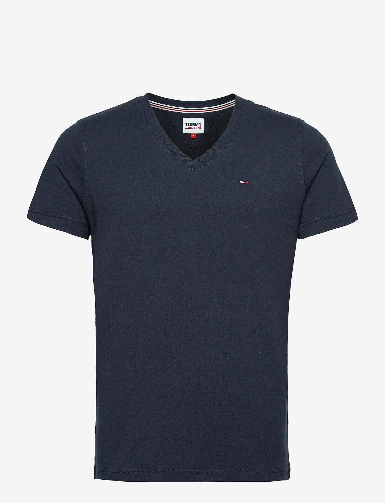 Tommy Jeans - TJM ORIGINAL JERSEY V NECK TEE - basic t-shirts - black iris - 0