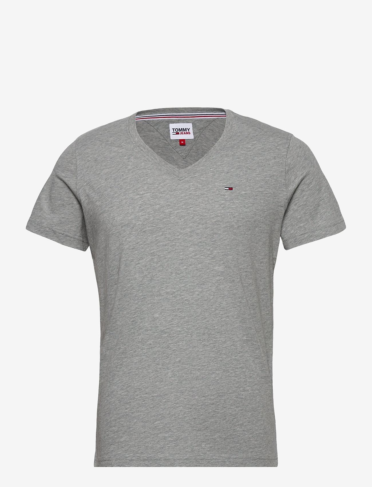 Tommy Jeans - TJM ORIGINAL JERSEY V NECK TEE - basic t-shirts - lt grey htr - 0