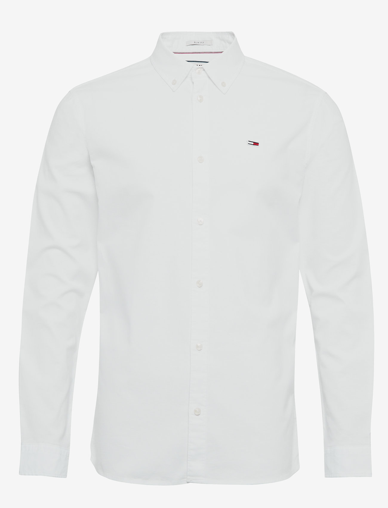 Tommy Jeans - TJM STRETCH OXFORD S - basic shirts - classic white