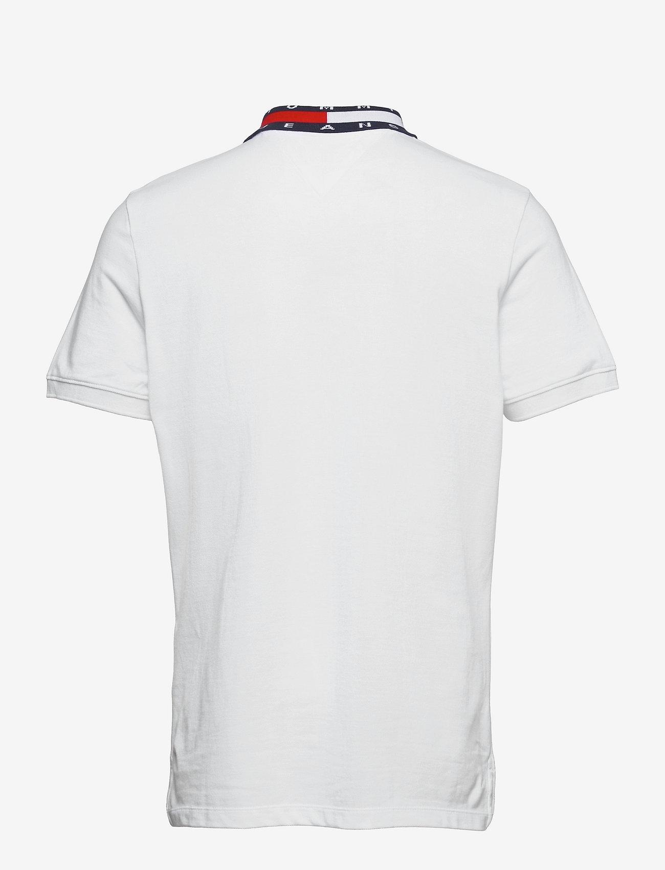 Tommy Jeans - TJM FLAG NECK POLO - kortärmade pikéer - white - 1