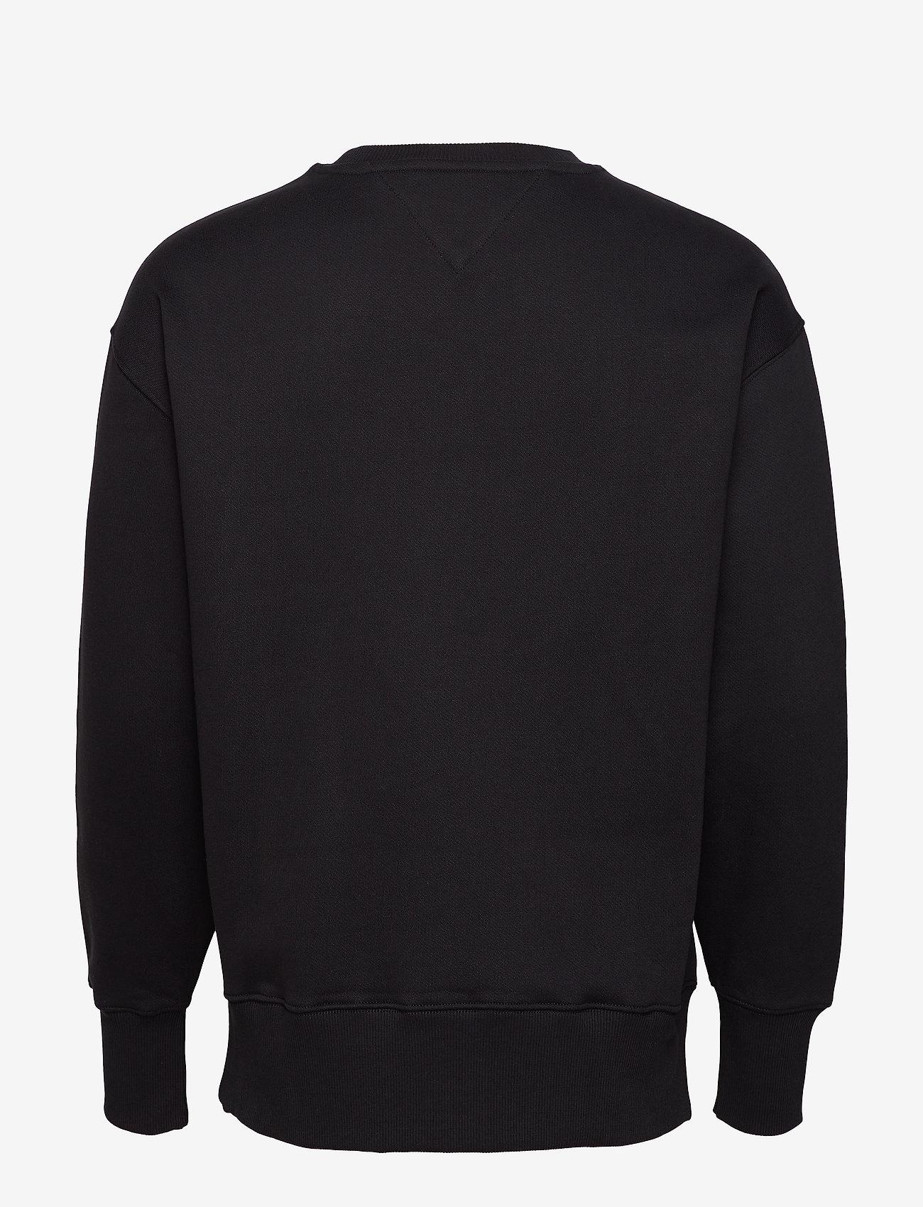 Tommy Jeans - TJM TOMMY BADGE CREW - kläder - black - 1