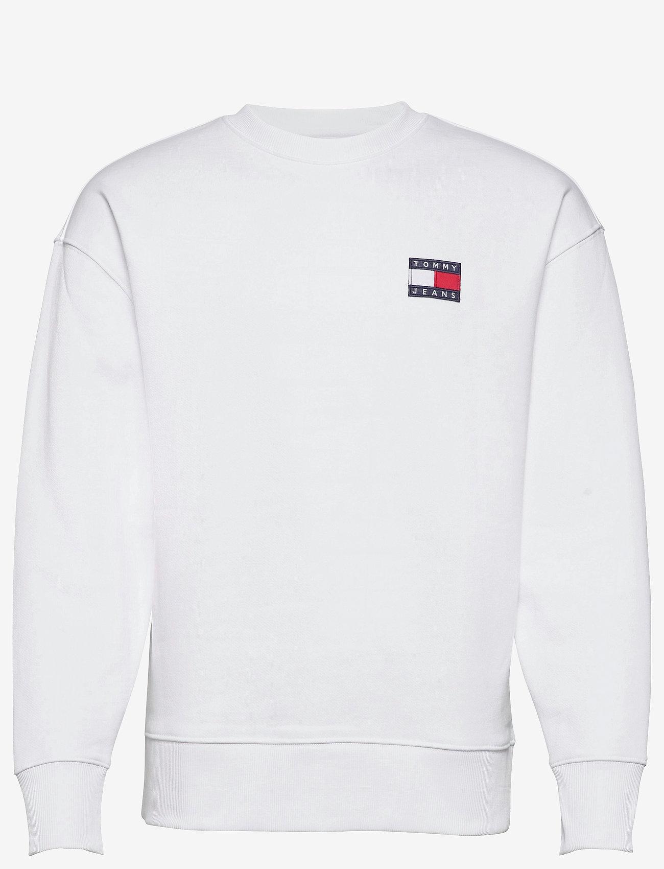 Tommy Jeans - TJM TOMMY BADGE CREW - kläder - white - 0