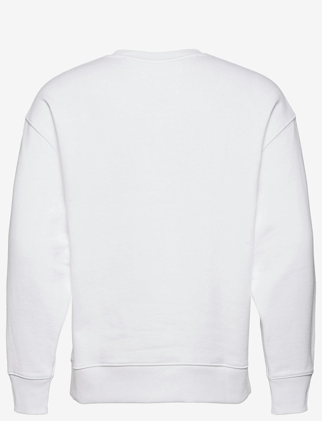 Tommy Jeans - TJM TOMMY BADGE CREW - kläder - white - 1