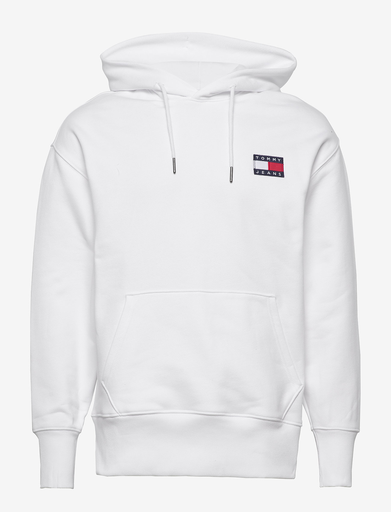 Tommy Jeans - TJM TOMMY BADGE HOODIE - hoodies - white - 0