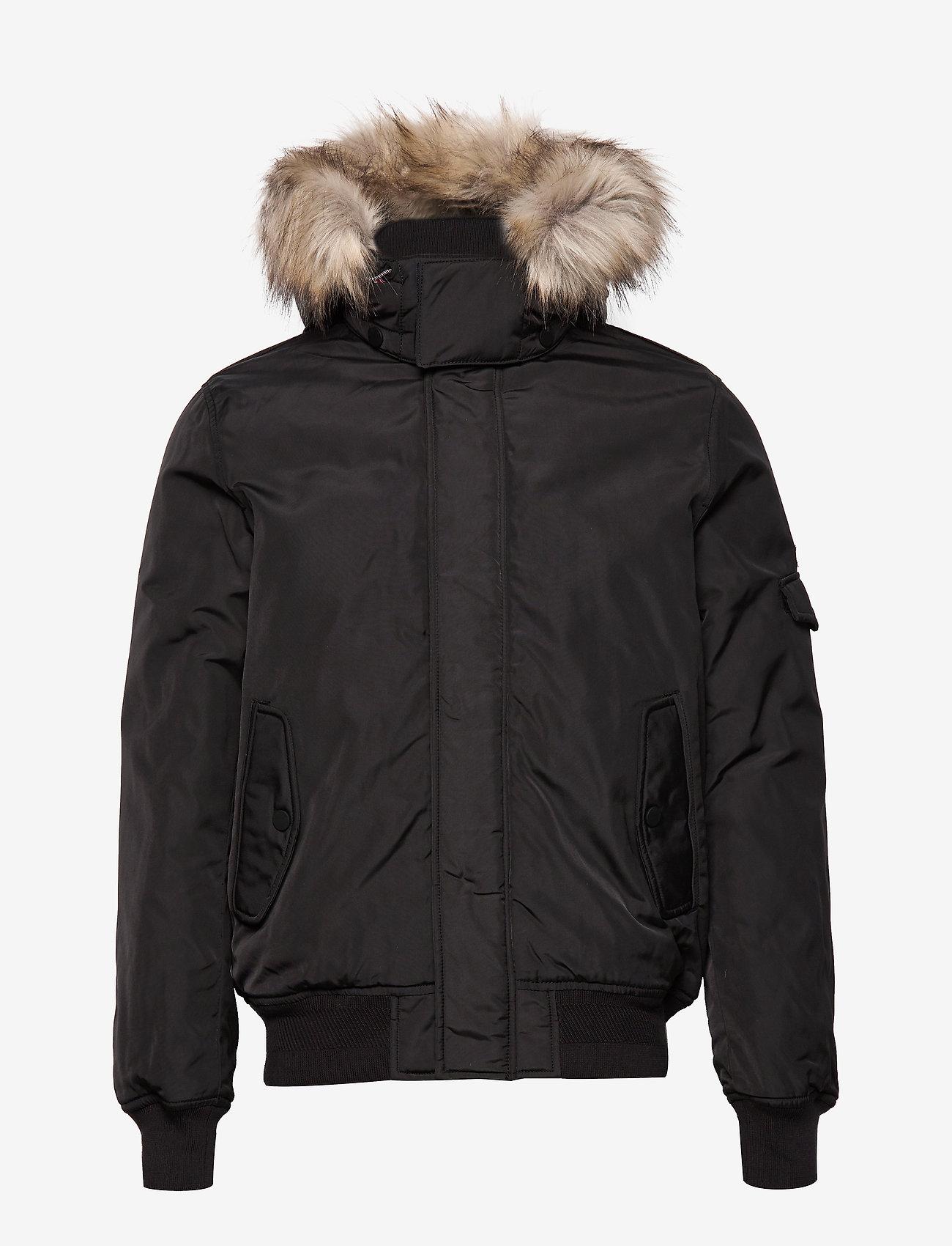 Tommy Jeans - TJM TECH JACKET - padded jackets - tommy black - 1