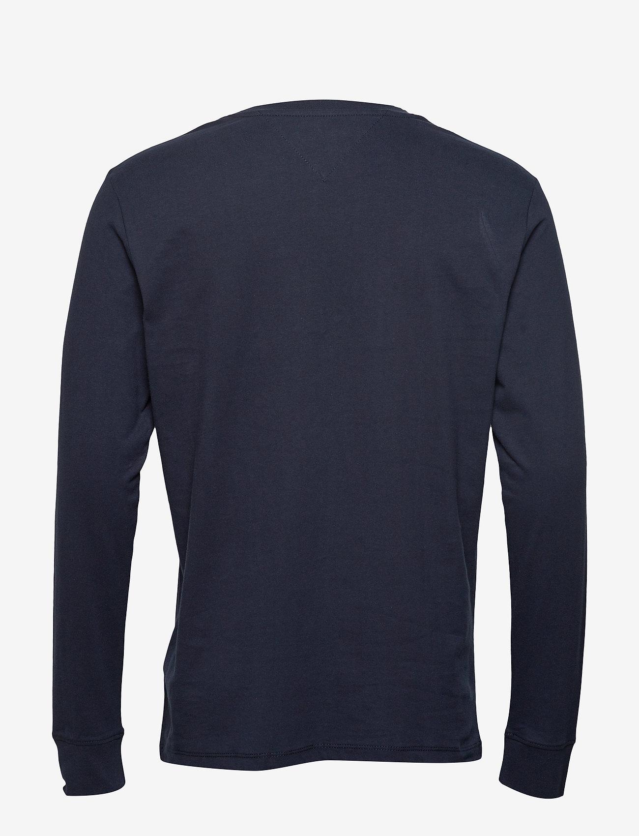 Tommy Jeans - TJM CLASSICS LONGSLEEVE TEE - long-sleeved t-shirts - black iris