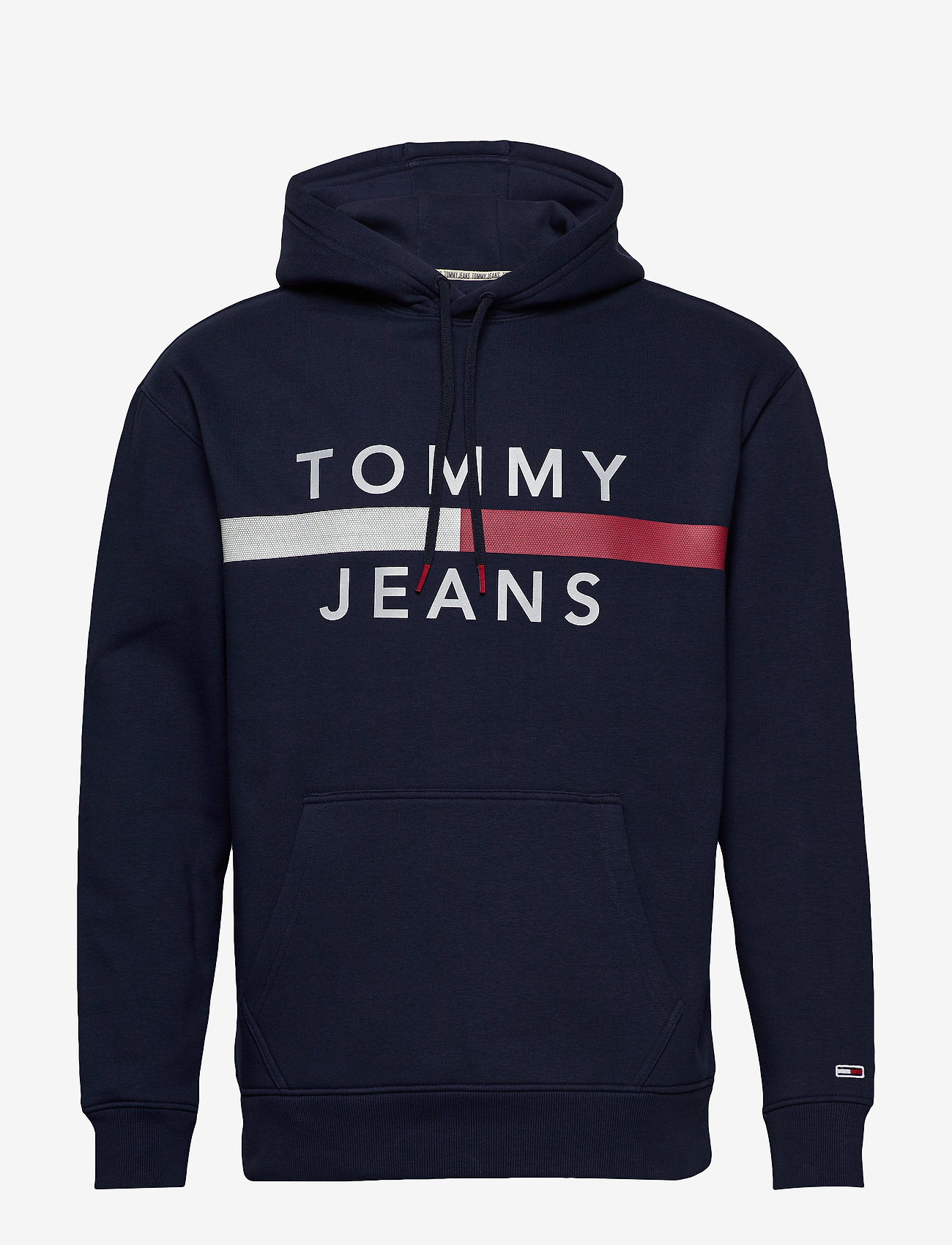 Tommy Jeans - TJM REFLECTIVE FLAG - hoodies - black iris