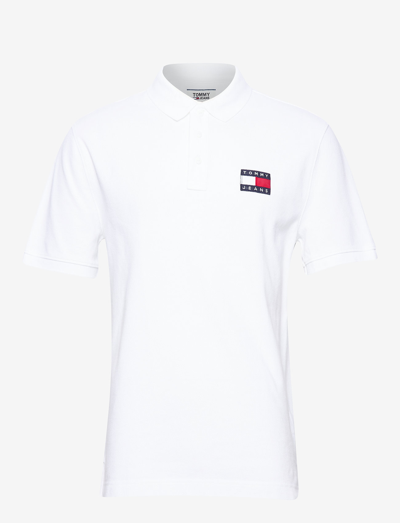 Tommy Jeans - TJM TOMMY BADGE POLO - kortermede - classic white - 0