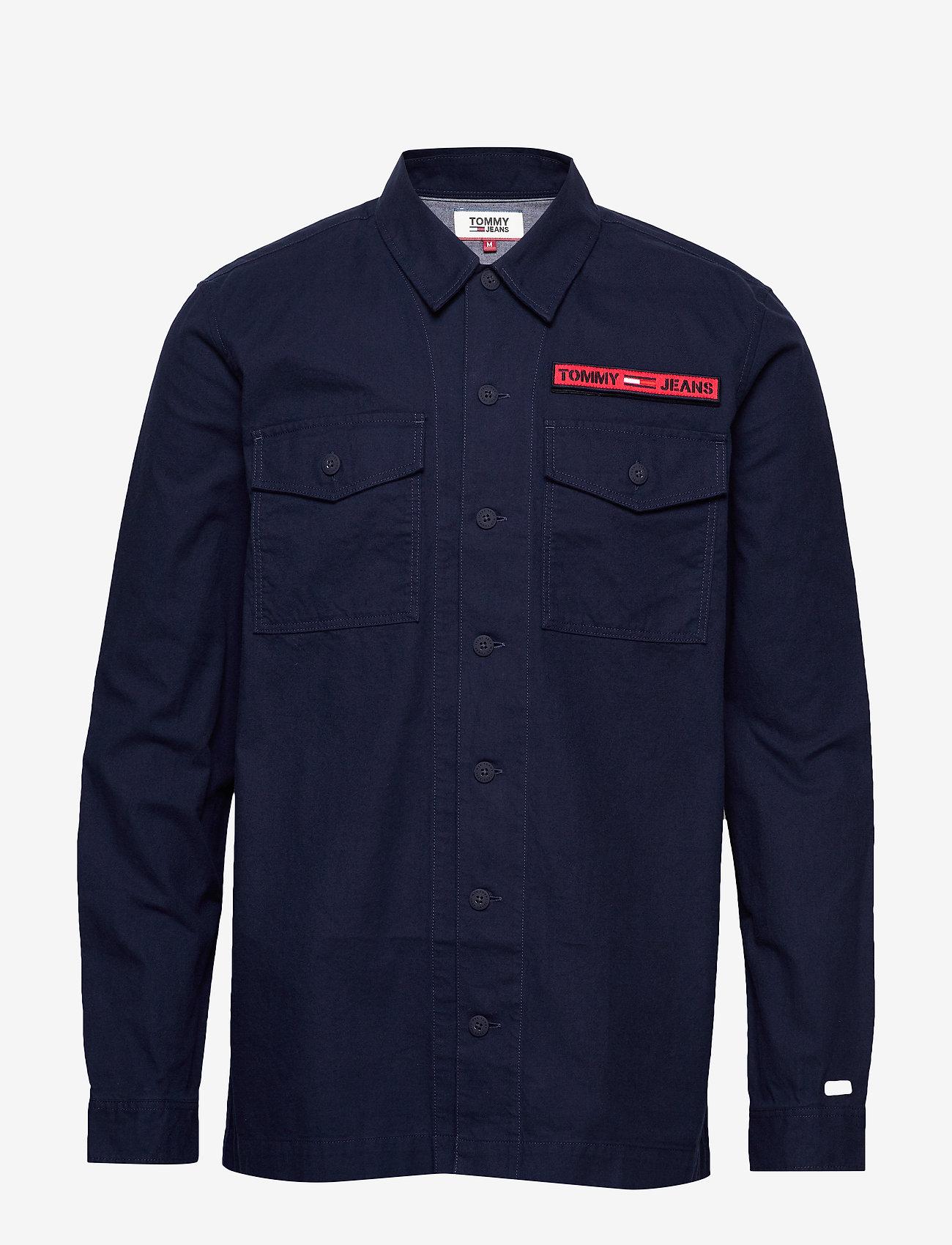 Tommy Jeans - TJM VELCRO OVERSHIRT - light jackets - black iris - 0