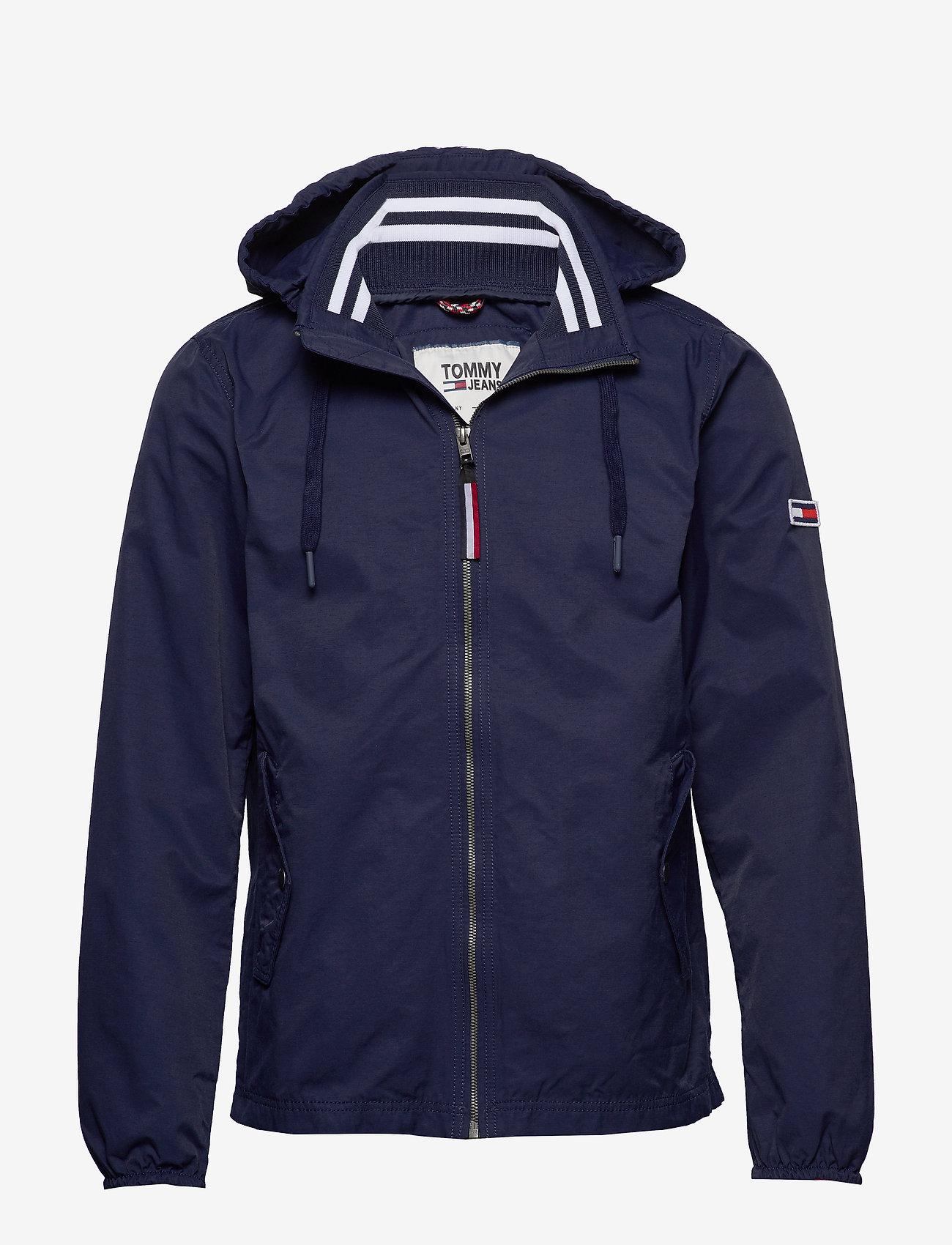 Tommy Jeans - TJM ESSENTIAL HOODED JACKET - light jackets - black iris