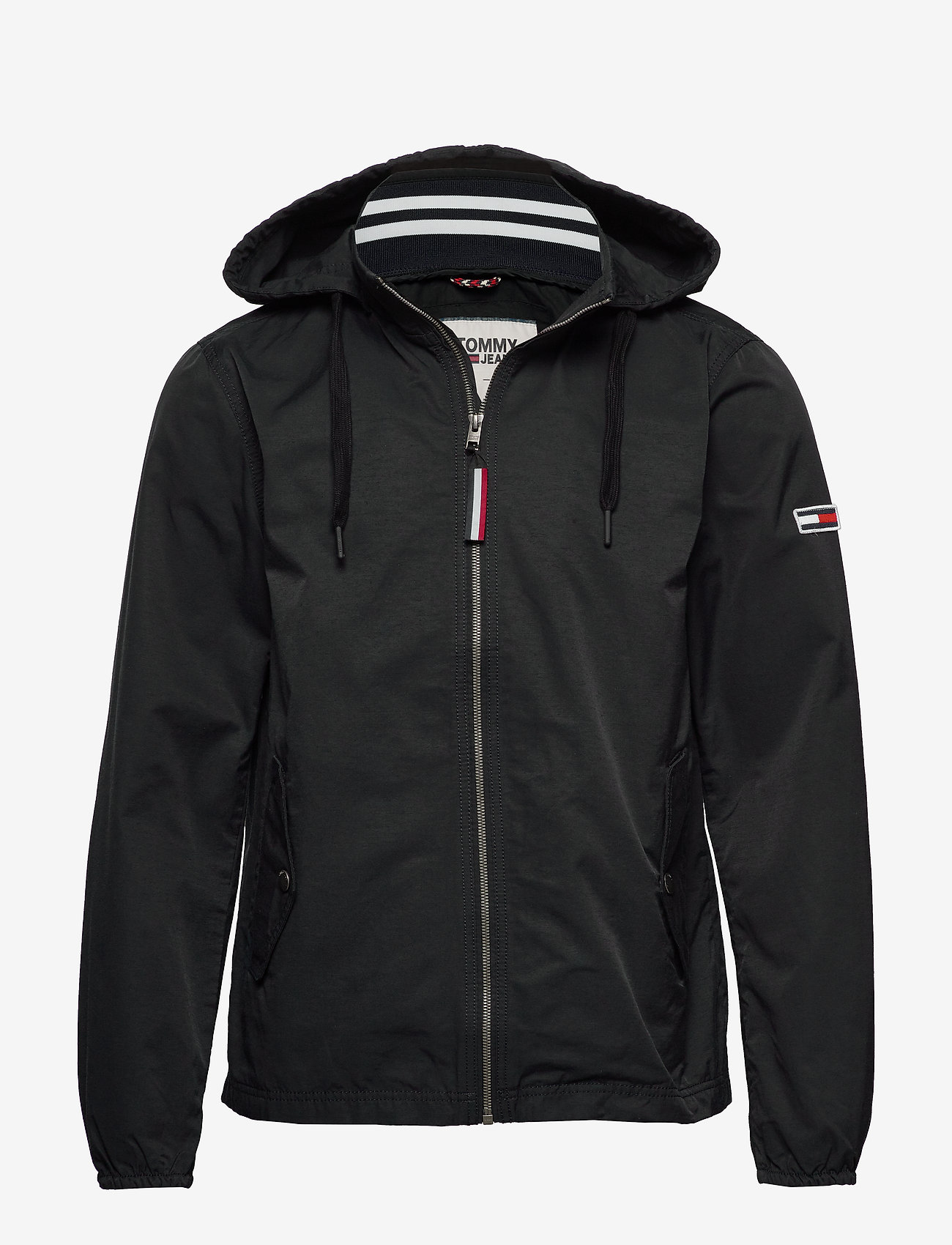 Tommy Jeans - TJM ESSENTIAL HOODED JACKET - light jackets - tommy black - 0