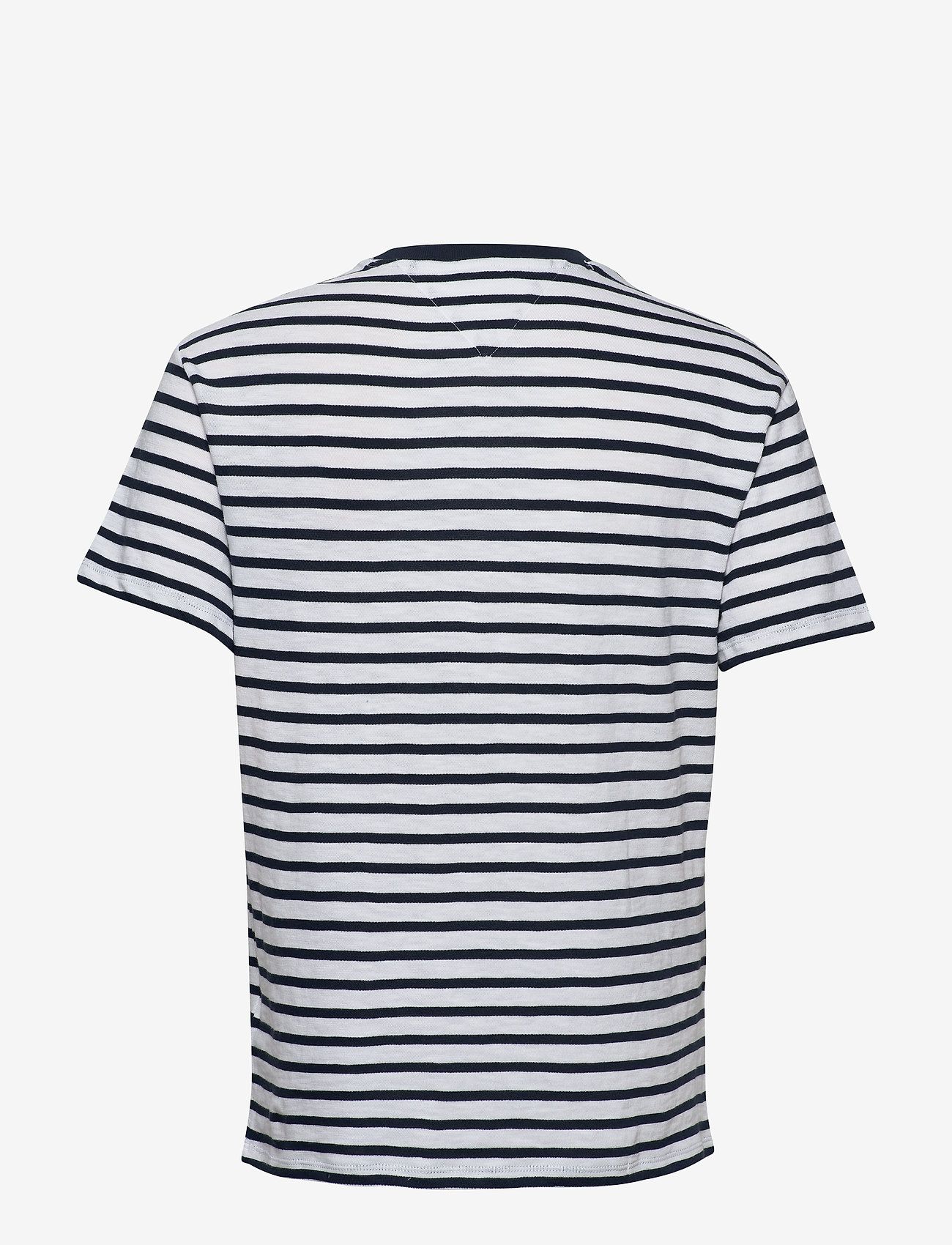 Tommy Jeans - TJM TOMMY STRIPE TEE - short-sleeved t-shirts - twilight navy / white - 1