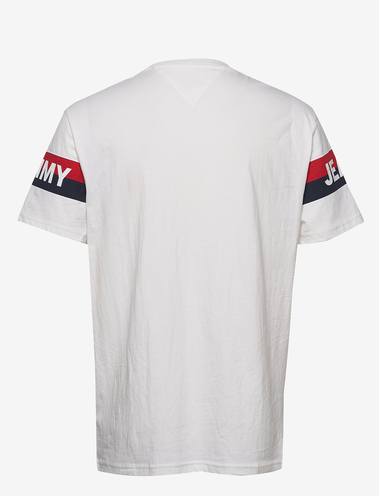 Tommy Jeans - TJM DOUBLE STRIPE LO - short-sleeved t-shirts - white - 1