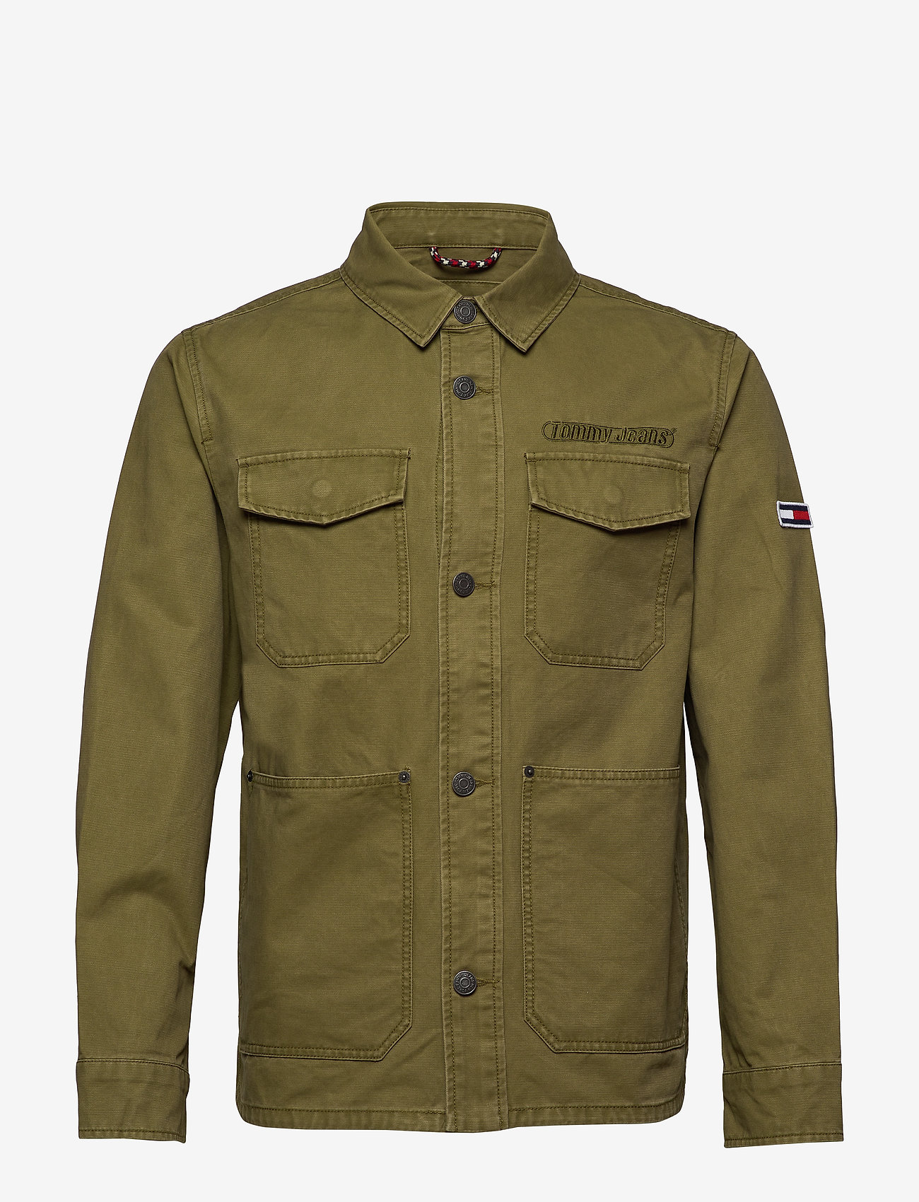Tommy Jeans - TJM COTTON CARGO JACKET - denim jackets - uniform olive - 0