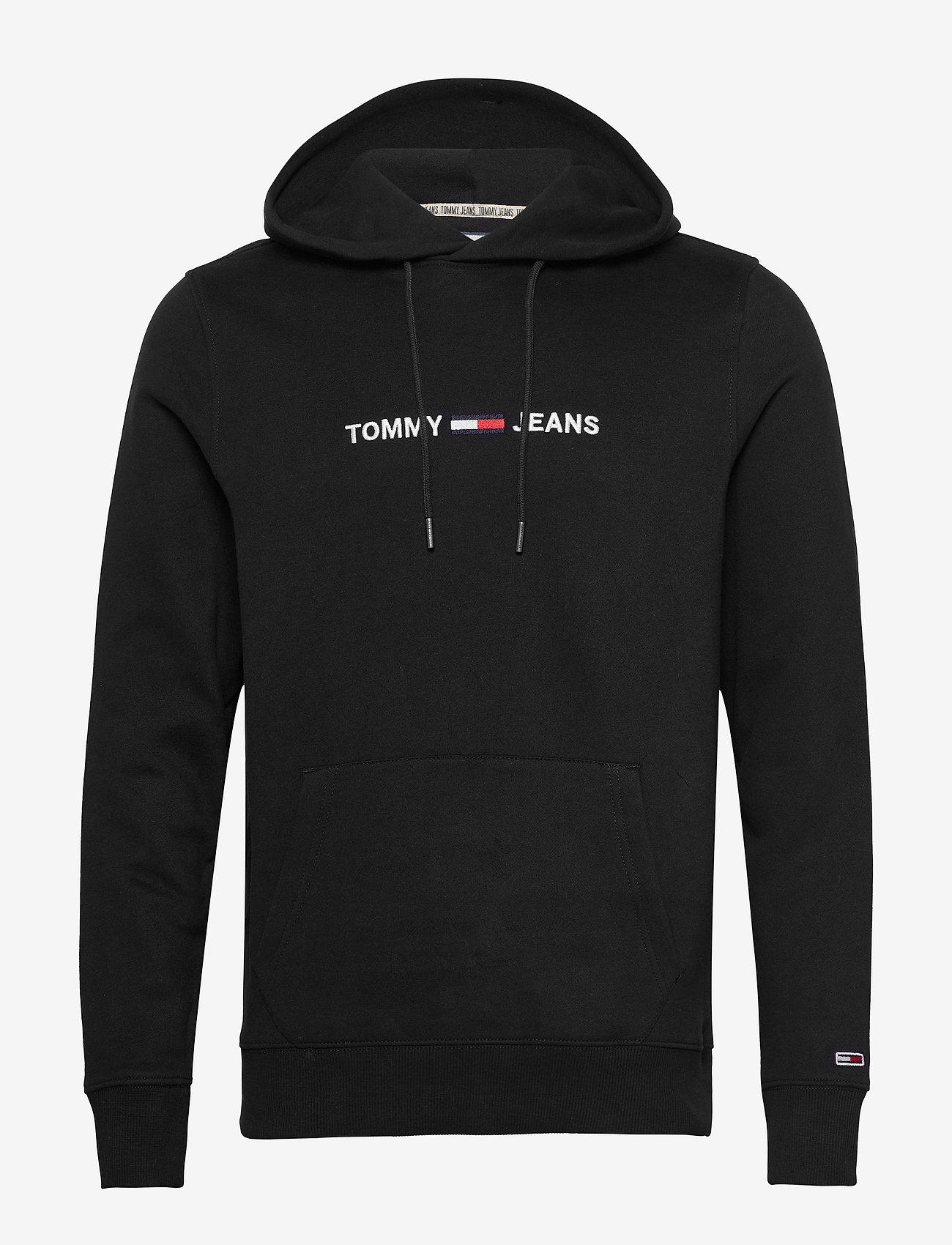 Tommy Jeans - TJM STRAIGHT LOGO HOODIE - hoodies - black - 0