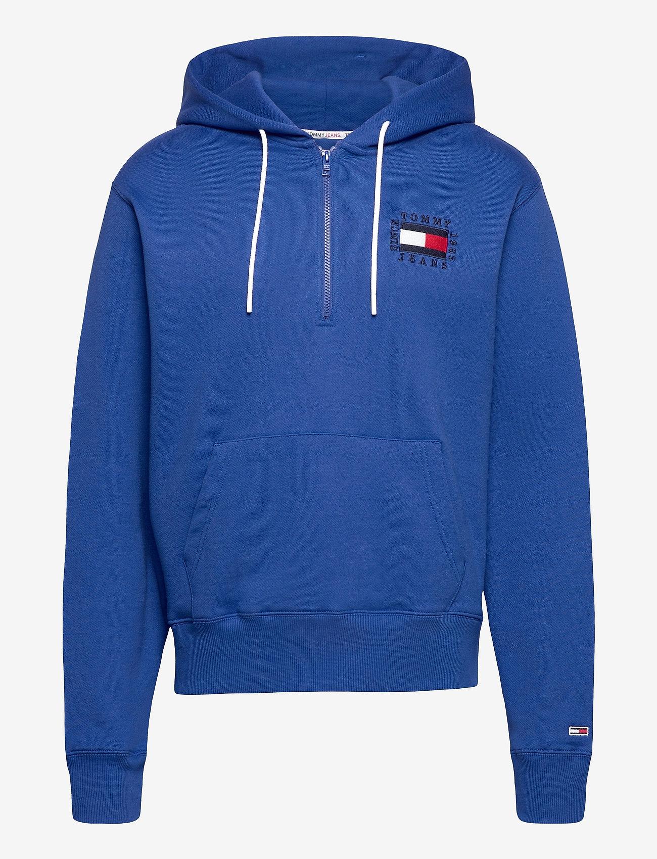 Tommy Jeans - TJM HALF ZIP HOODIE - hoodies - providence blue - 0