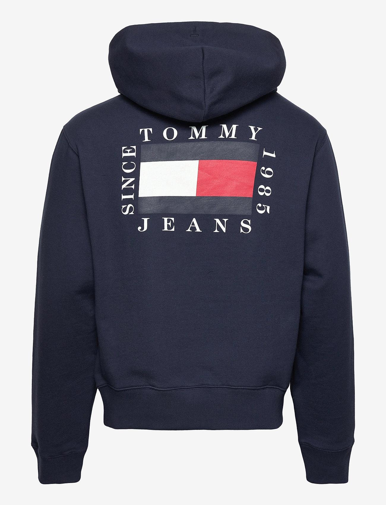 Tommy Jeans - TJM HALF ZIP HOODIE - hoodies - twilight navy - 1