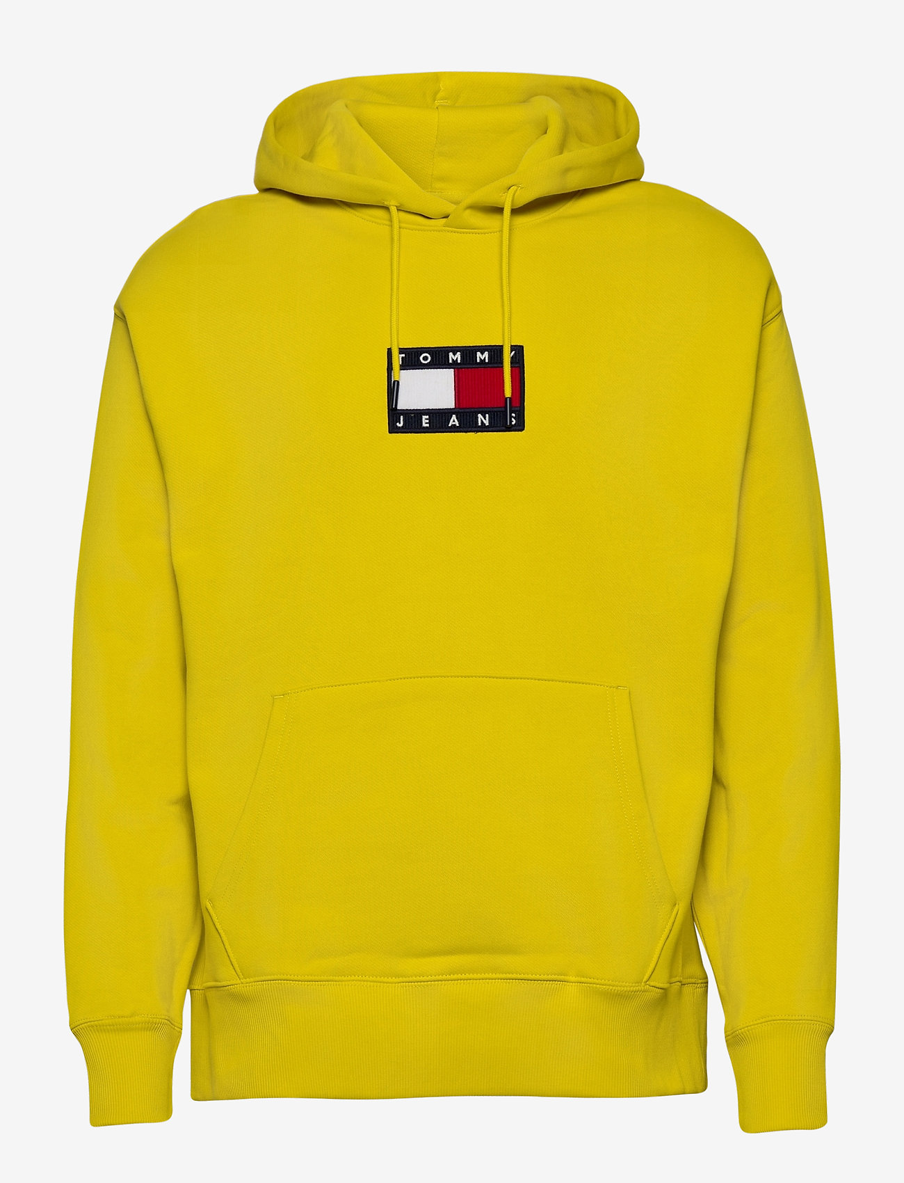 Tommy Jeans - TJM SMALL FLAG HOODIE - hoodies - valley yellow - 0