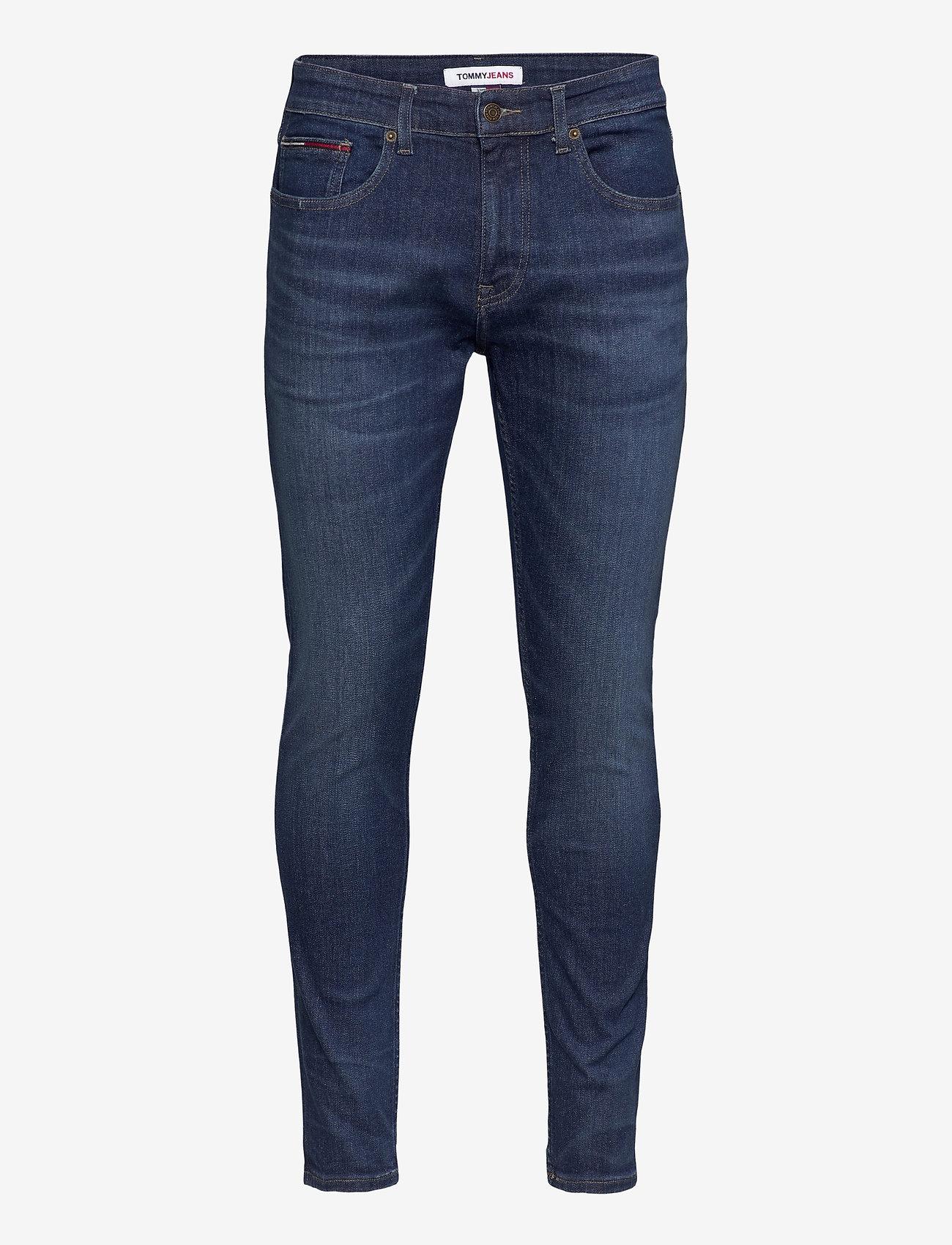 Tommy Jeans - AUSTIN SLIM QDBST - slim jeans - queens dark blue str - 0
