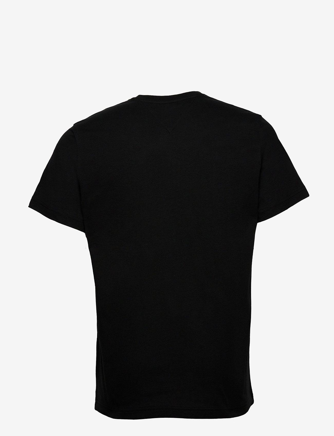Tommy Jeans - TJM REGULAR CORP LOGO C NECK - basic t-shirts - black - 1