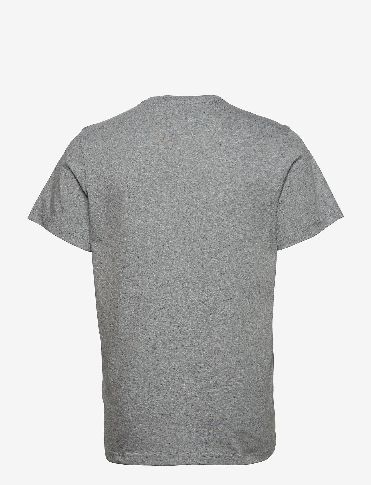 Tommy Jeans - TJM REGULAR CORP LOGO C NECK - basic t-shirts - lt grey htr - 1