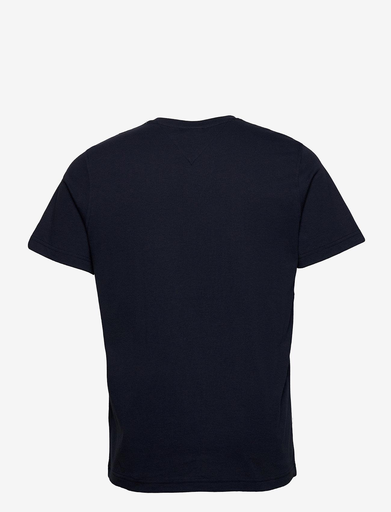 Tommy Jeans - TJM REGULAR CORP LOGO C NECK - basic t-shirts - twilight navy - 1
