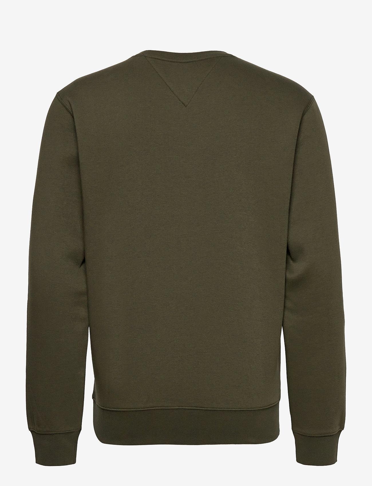Tommy Jeans - TJM REGULAR FLEECE C NECK - kläder - dark olive - 1