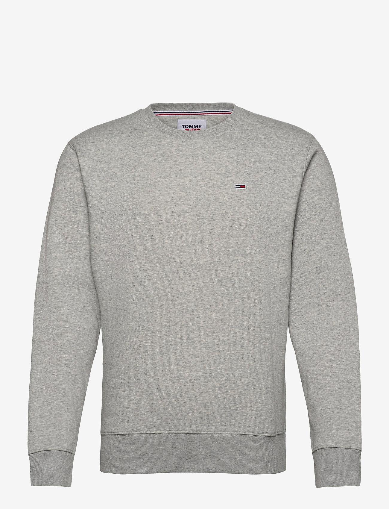 Tommy Jeans - TJM REGULAR FLEECE C NECK - kläder - lt grey htr - 0