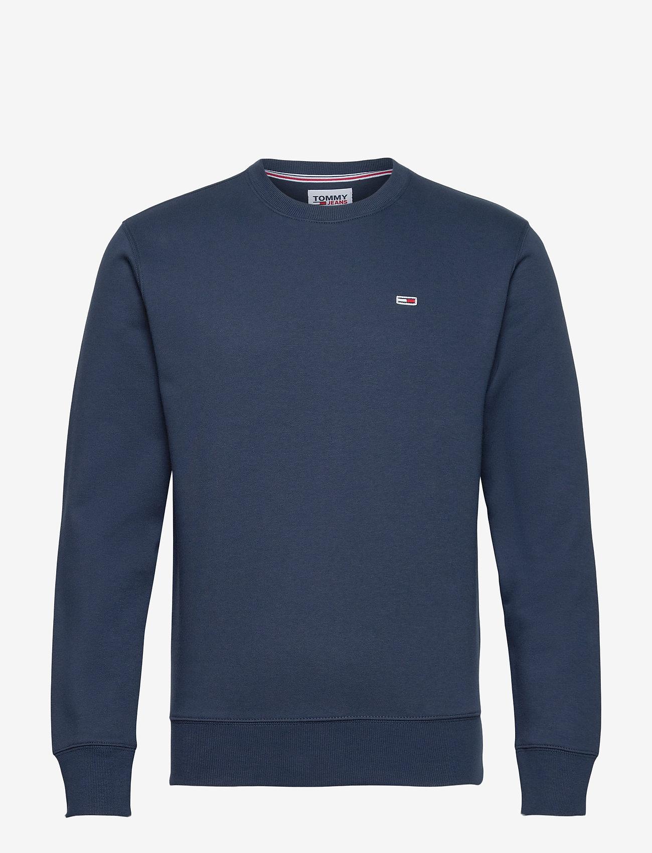 Tommy Jeans - TJM REGULAR FLEECE C NECK - kläder - twilight navy - 0