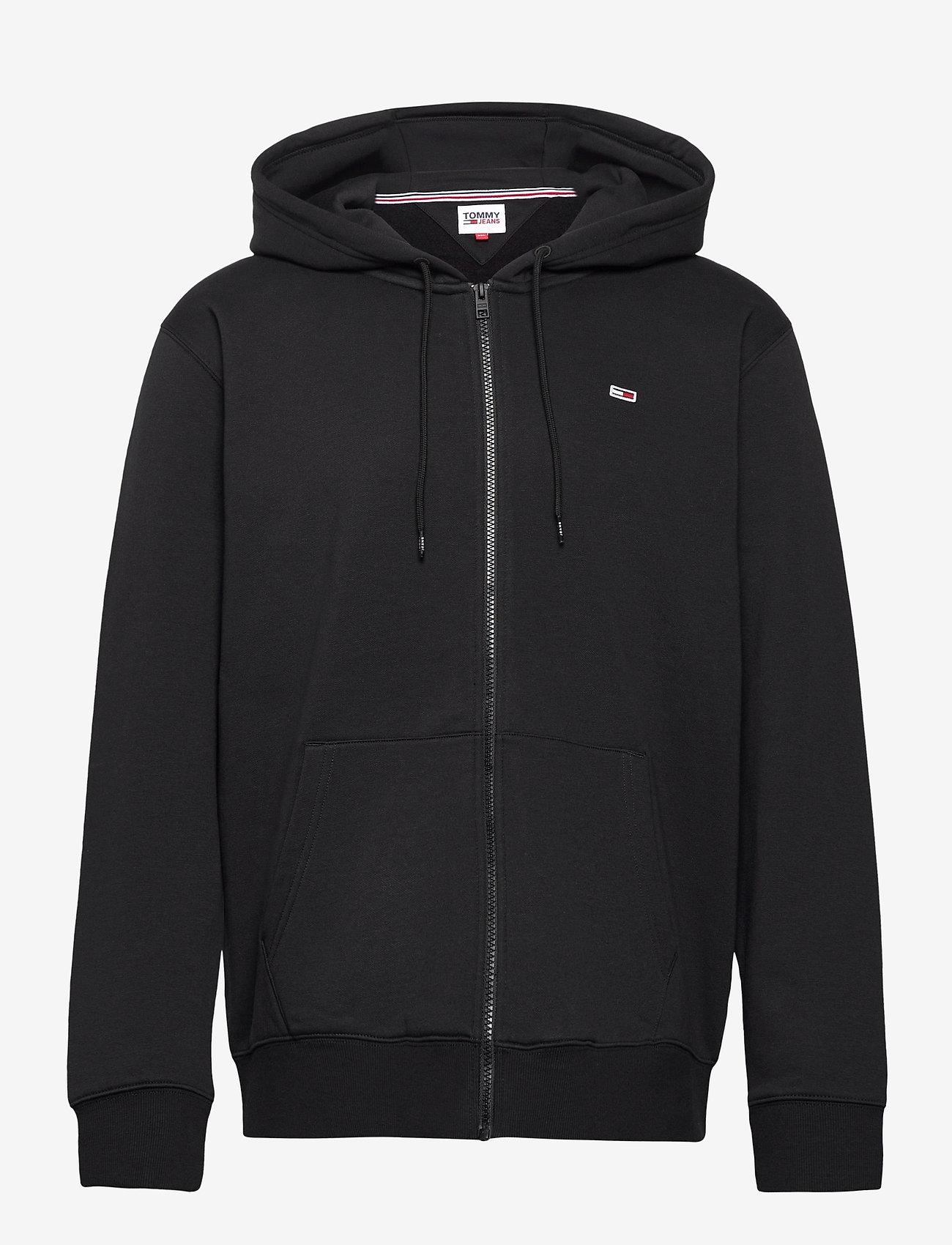 Tommy Jeans - TJM REGULAR FLEECE ZIP HOODIE - hoodies - black - 0