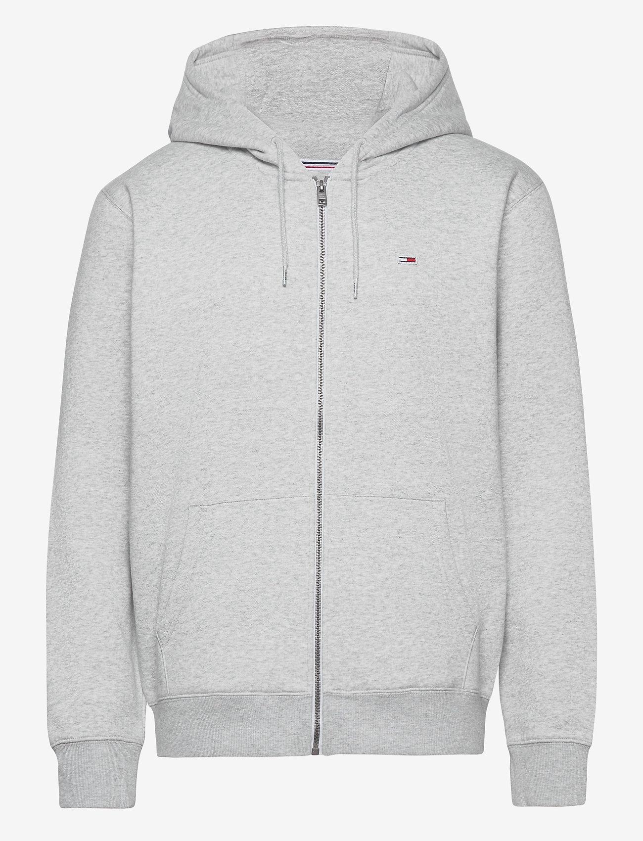 Tommy Jeans - TJM REGULAR FLEECE ZIP HOODIE - hoodies - lt grey htr - 0