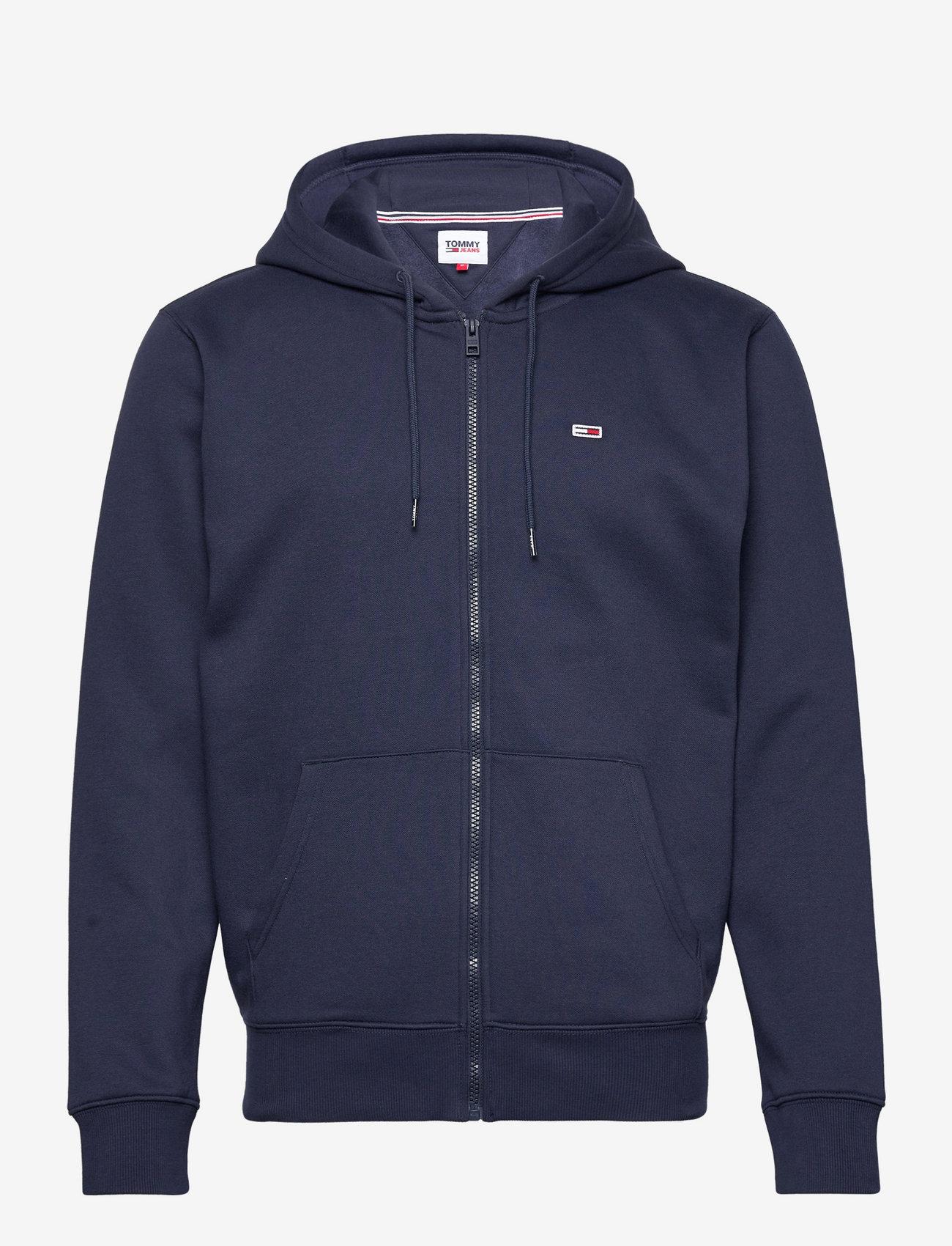 Tommy Jeans - TJM REGULAR FLEECE ZIP HOODIE - basic sweatshirts - twilight navy - 0