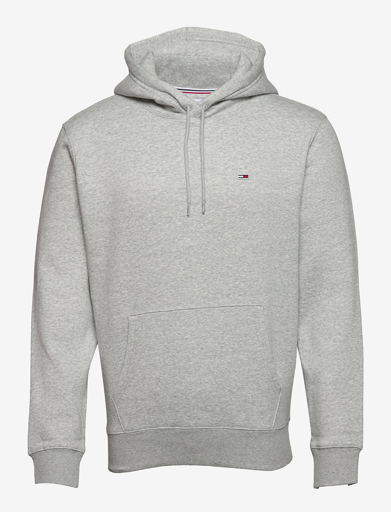 Tommy Jeans - TJM REGULAR FLEECE HOODIE - hoodies - lt grey htr - 0