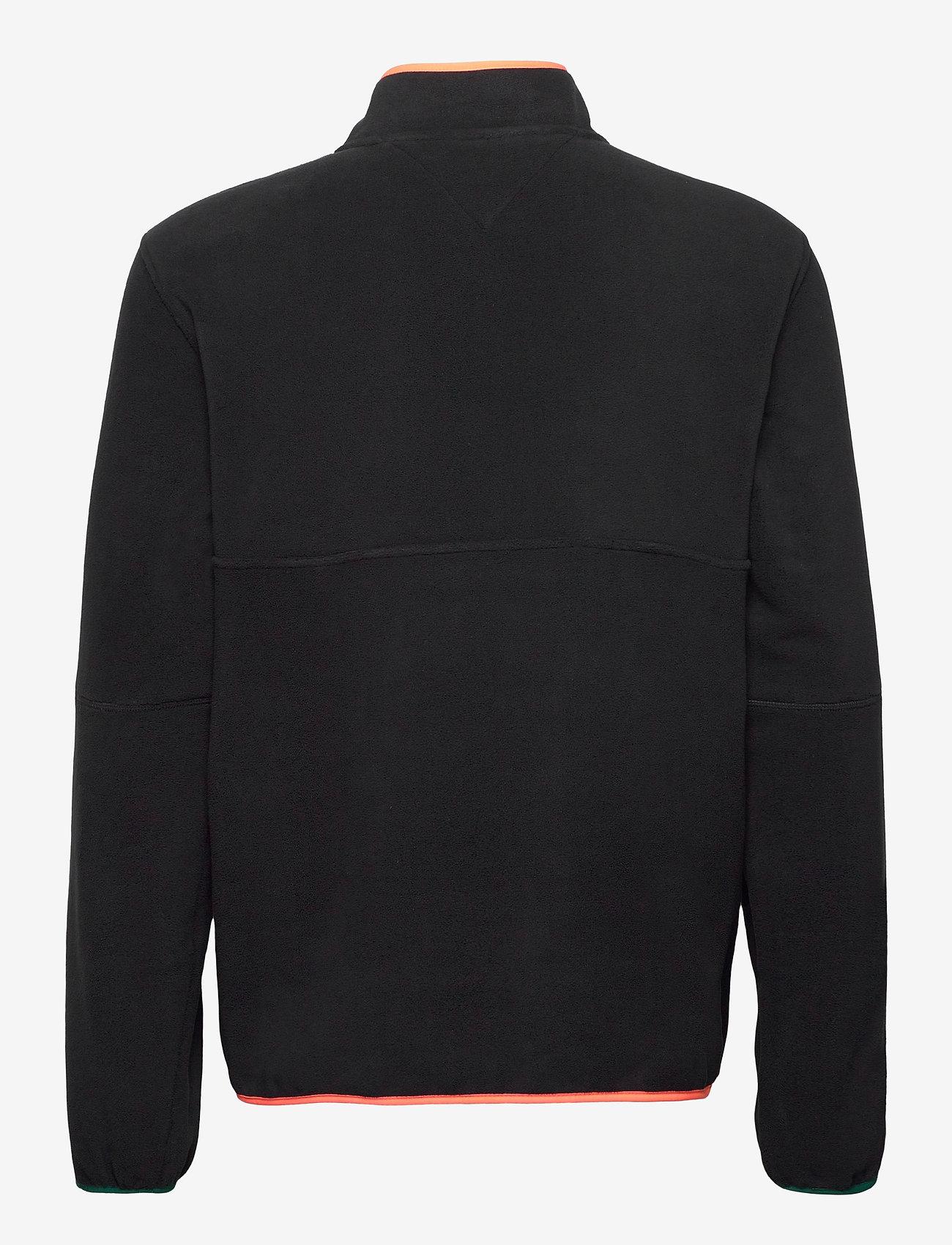 Tommy Jeans - TJM MIX FABRIC MOCK NECK C - basic-sweatshirts - black / multi - 1