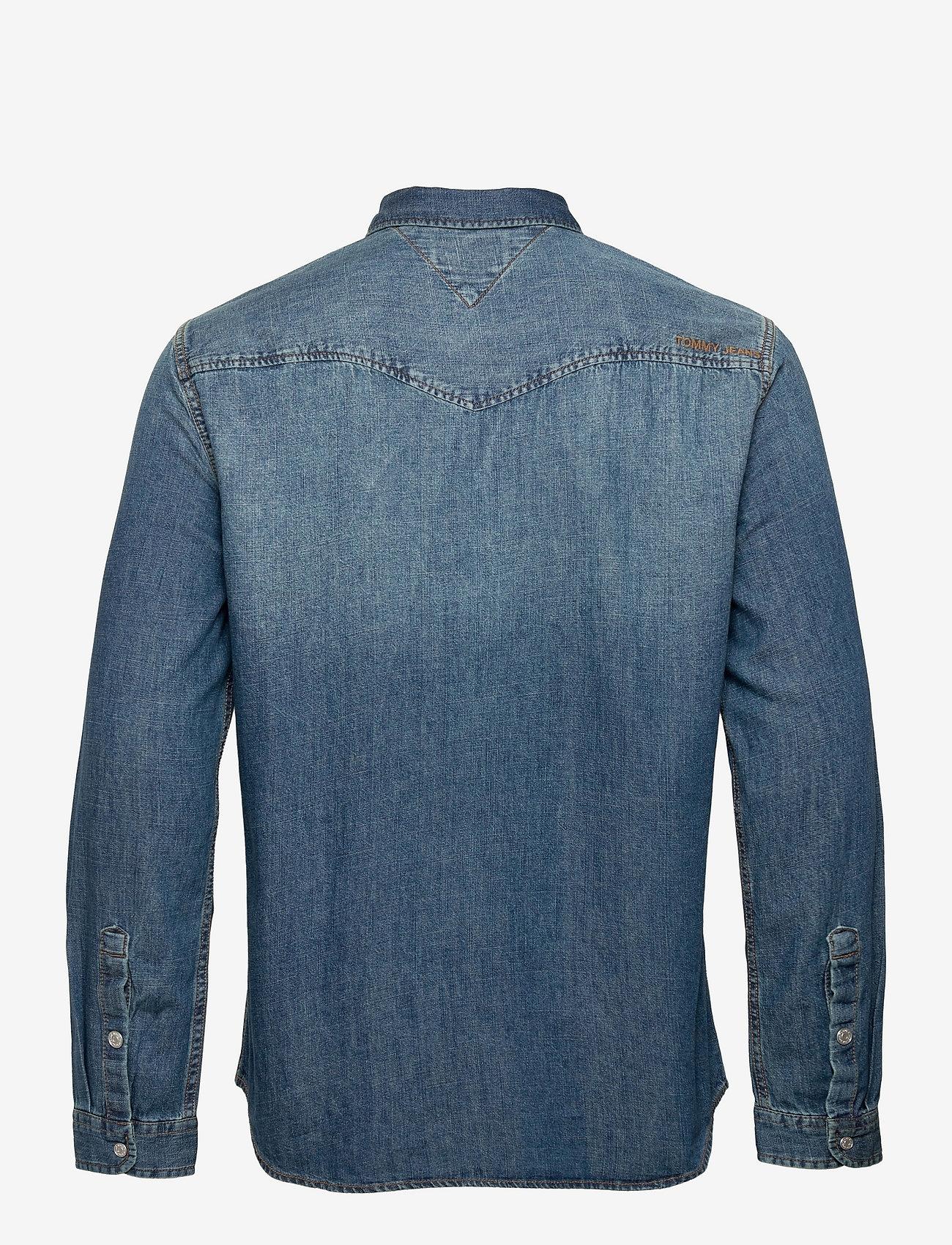 Tommy Jeans - TJM WESTERN DENIM SHIRT - basic skjortor - mid indigo - 1