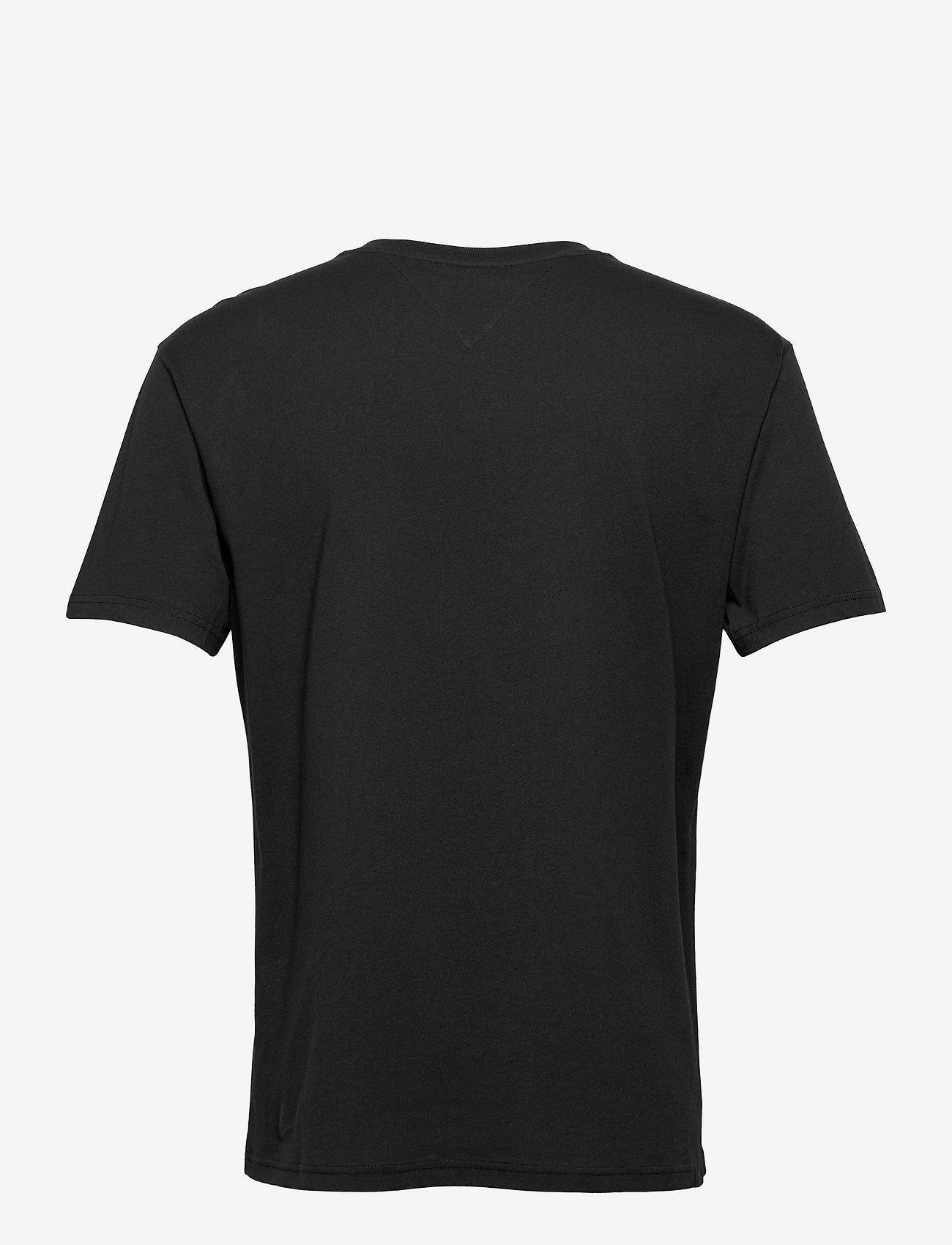 Tommy Jeans - TJM SMALL TEXT TEE - kortärmade t-shirts - black - 1
