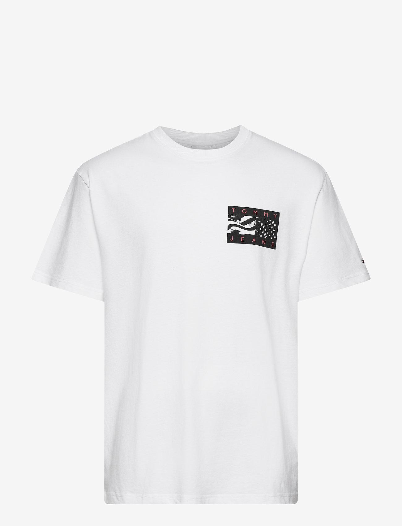 Tommy Jeans - TJM BACK FLAG TEE C - t-shirts basiques - white - 0