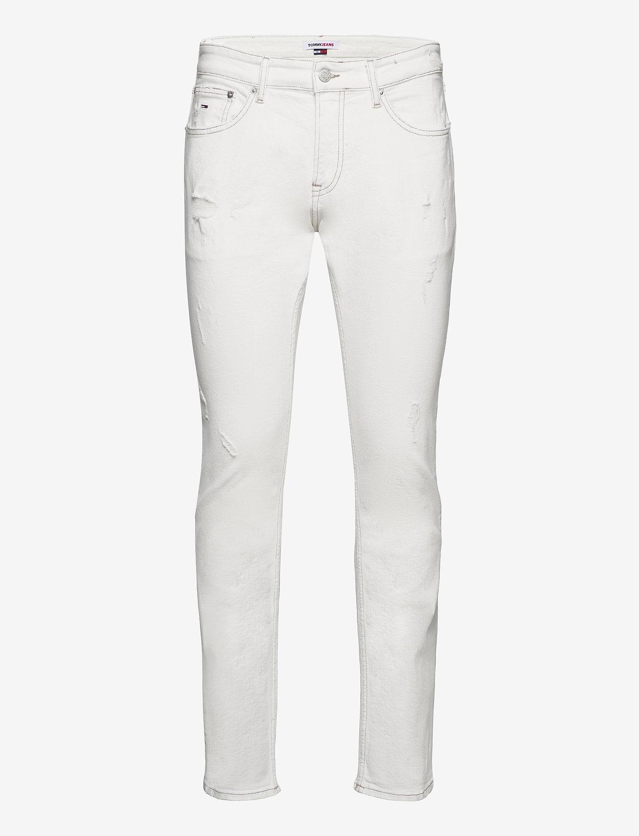 Tommy Jeans - SCANTON SLIM OWCD - slim jeans - optic wh com destr - 0