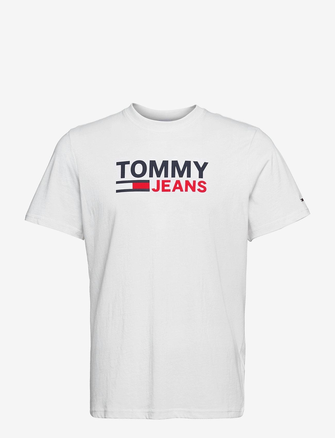 Tommy Jeans - TJM CORP LOGO TEE - kortärmade t-shirts - white - 0