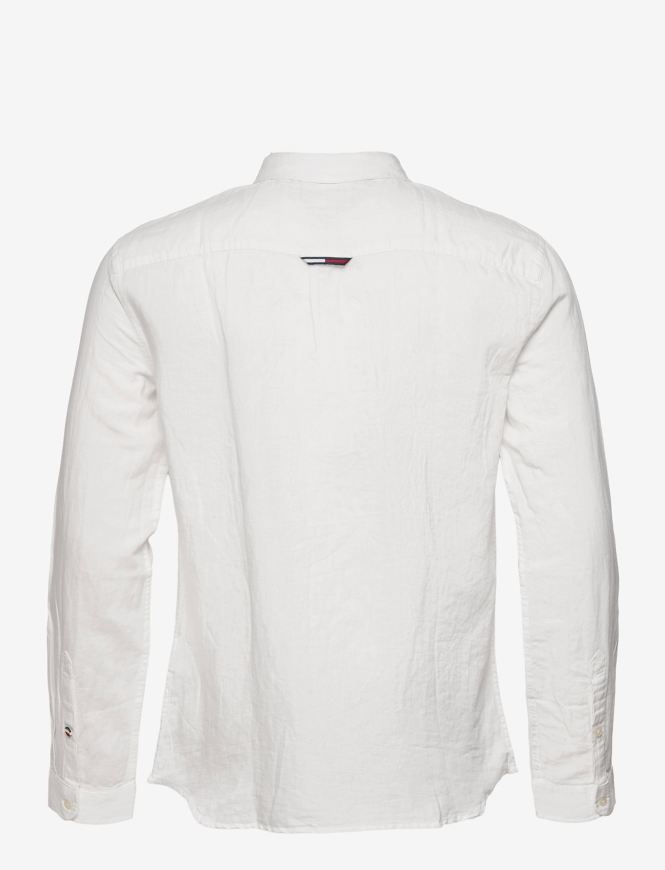 Tommy Jeans - TJM LINEN BLEND SHIRT - rutiga skjortor - white - 1