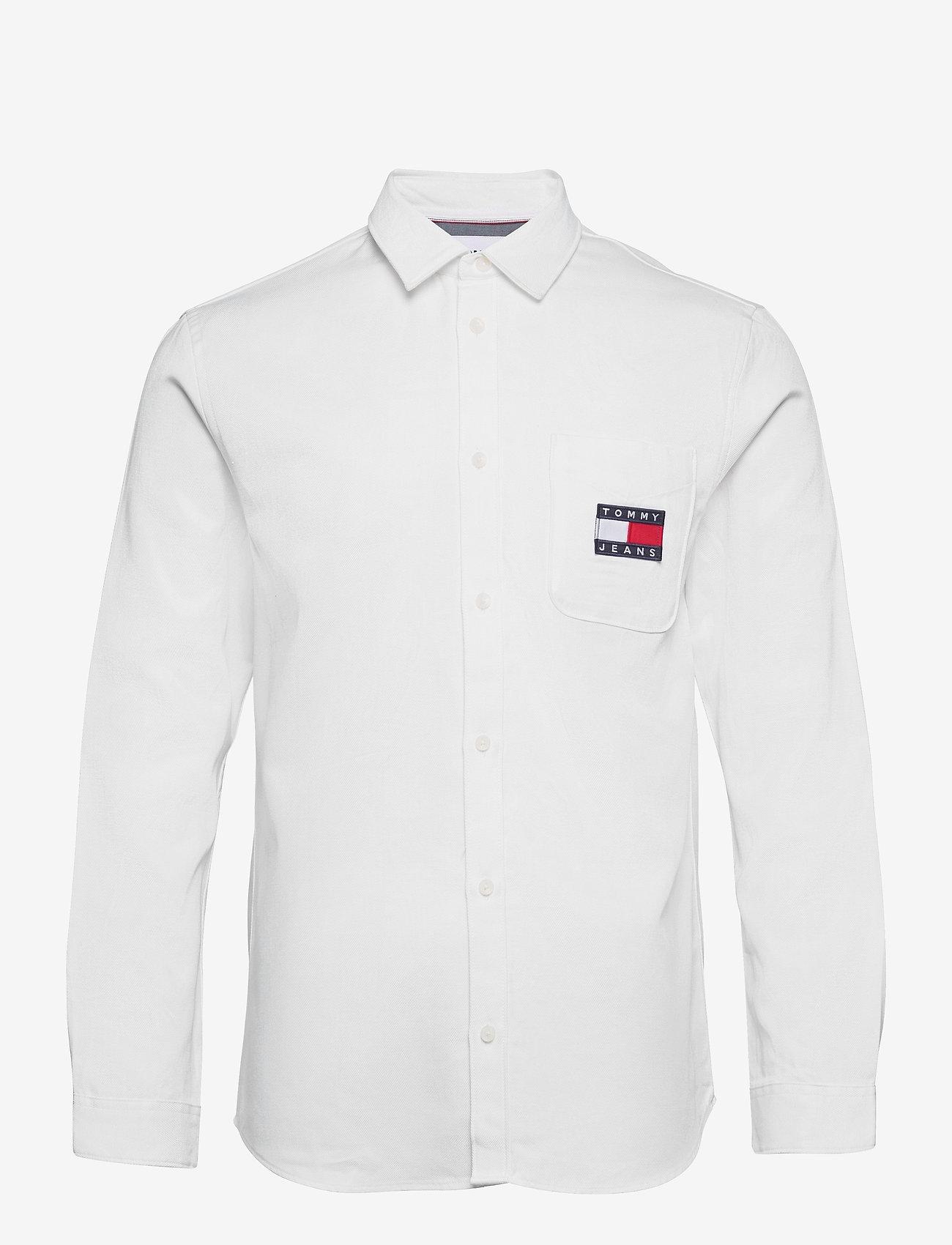 Tommy Jeans - TJM BADGE TENCEL TWILL SHIRT - basic skjortor - white - 0
