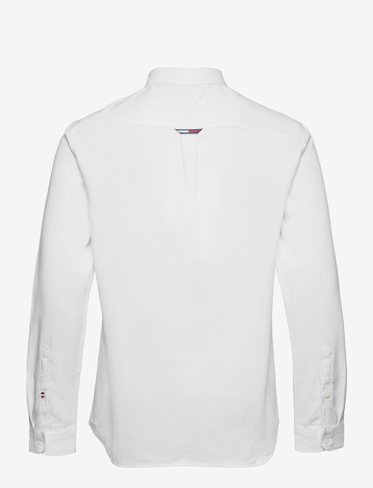 Tommy Jeans - TJM BADGE TENCEL TWILL SHIRT - basic skjortor - white - 1