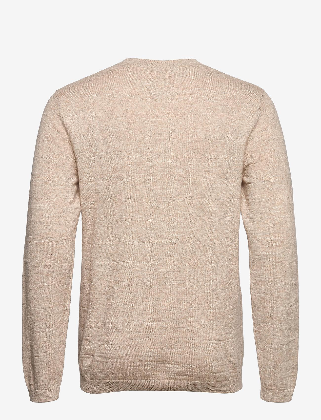Tommy Jeans - TJM LIGHTWEIGHT HEATHER SWEATER - stickade basplagg - soft beige htr - 1