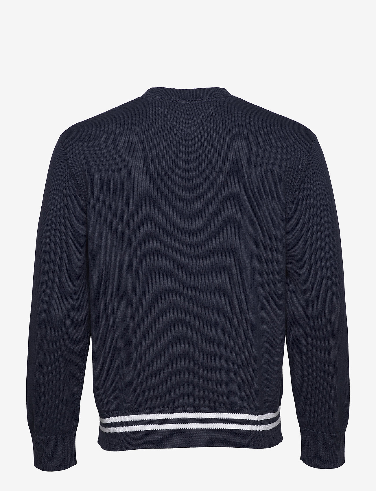 Tommy Jeans - TJM BADGE TEXTURED SWEATER - stickade basplagg - twilight navy / silver grey htr - 1